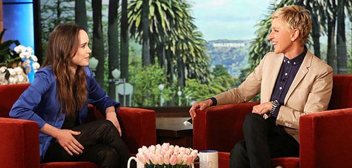 Ellen Page Thanks Ellen DeGeneres for Inspiring Her To Come Out