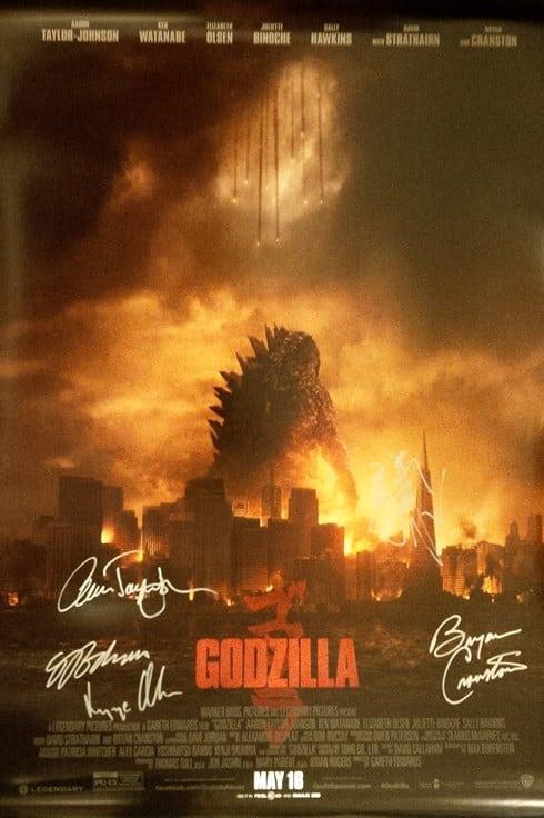 godzillla signed poster