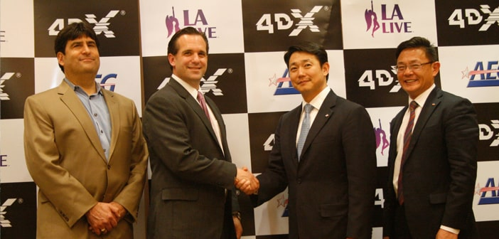 CJ 4DPlex Signs with AEG to Bring 4DX Technology