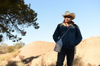 Eva Longoria and Michael Peña in their first Spanish speaking role in FRONTERA 3