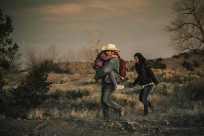 Eva Longoria and Michael Peña in their first Spanish speaking role in FRONTERA 5