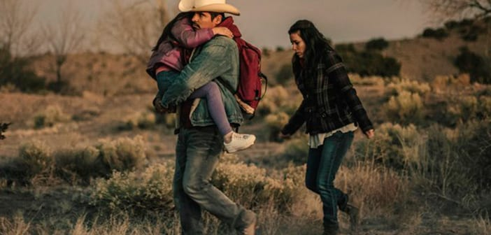 Eva Longoria and Michael Peña in their first Spanish speaking role in FRONTERA 8