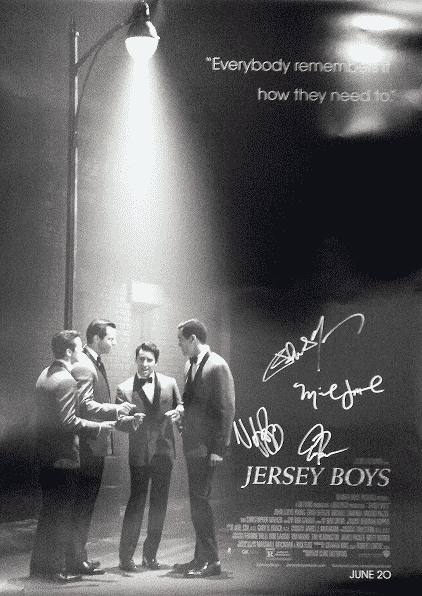 JERSEY BOYS Autographed Poster