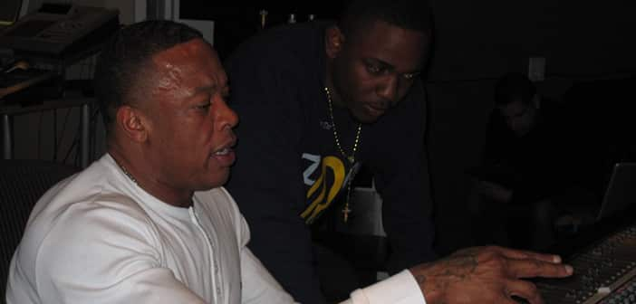 Kendrick Lamar dropping beats with Dr Dre on new album