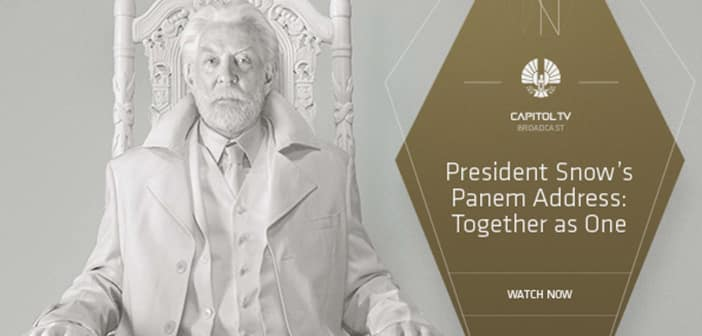 """President Snow Address Panem With """"Together as One"""" Speech 6"""
