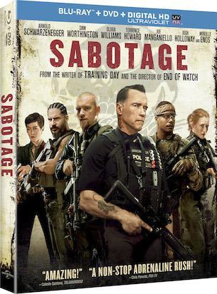 SABOTAGE - DVDBLU-RAY Movie Promotion Giveaway