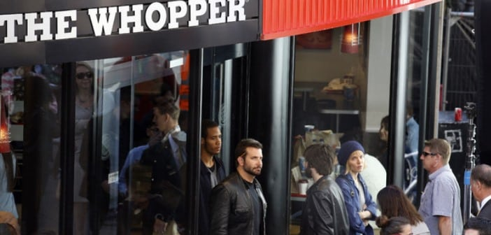 Bradley Cooper Heads To Work At Burger King 2