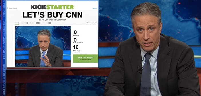 """The Daily Show's John Stewart creates LetsBuyCNN.com Kickstarter"