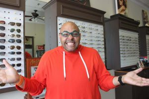 ZayZay Gets  An Eye Exam to See What All the Hype Is About Transitions Lenses 5
