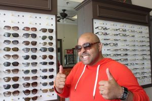 ZayZay Gets  An Eye Exam to See What All the Hype Is About Transitions Lenses 4