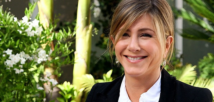 Jennifer Aniston Trends Her Hair with Fishtail Braid 2