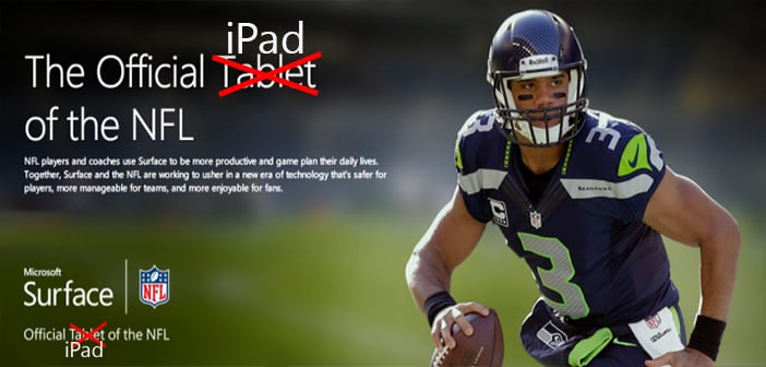 Despite $400 Million Check, Microsoft Still Loses as NFL Announcer Misadvertises Tablet as iPad