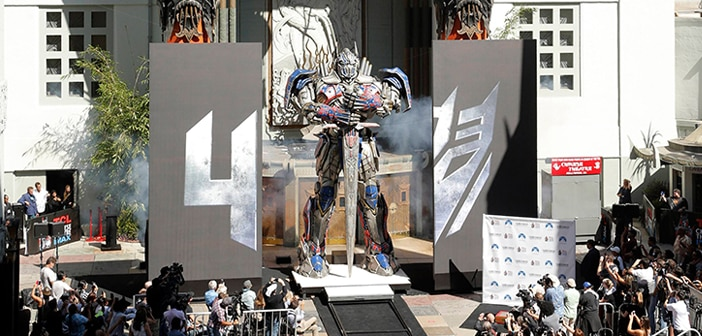 OPTIMUS PRIME Heads To TCL Chinese Theatre As He  Is Honored With Handprint- Footprint Ceremony