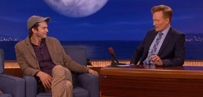 Ashton Kutcher Talks To Conan to Talk About Why THAT Name For Daughter Wyatt Isabelle
