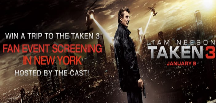 Liam Neeson Will Invite One Lucky Fan To Join Him For The TAKEN 3 NY Screening