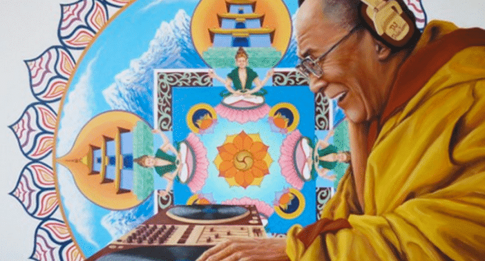 Dalai Lama at Glastonbury Festival