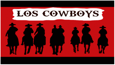 los cowboys small banner