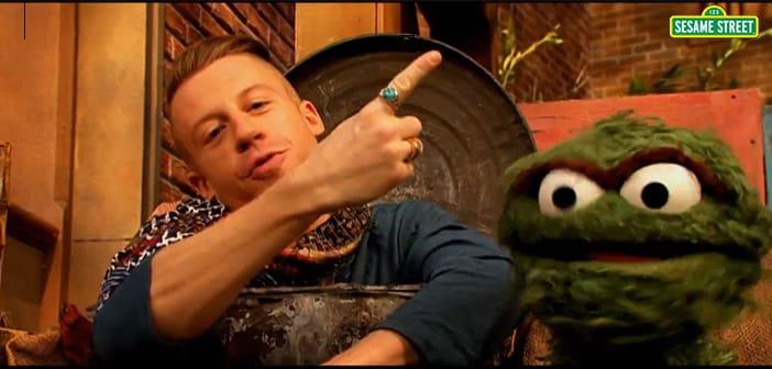 Macklemore Heads To 'Sesame Street' With 'Thrift Shop' Parody