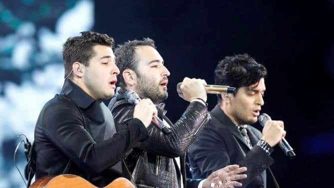 REIK performing at the International Song Festival in Viña del Mar