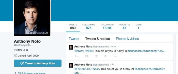 Twitter Executive Has Their Account Hacked 2