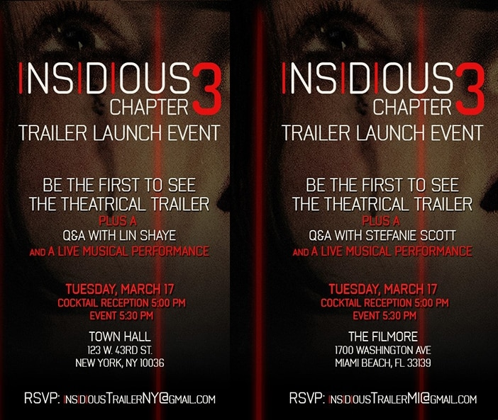 INSIDIOUS 3 - Trailer Launch Event