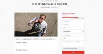 Petition For Jeremy Clarkson Return