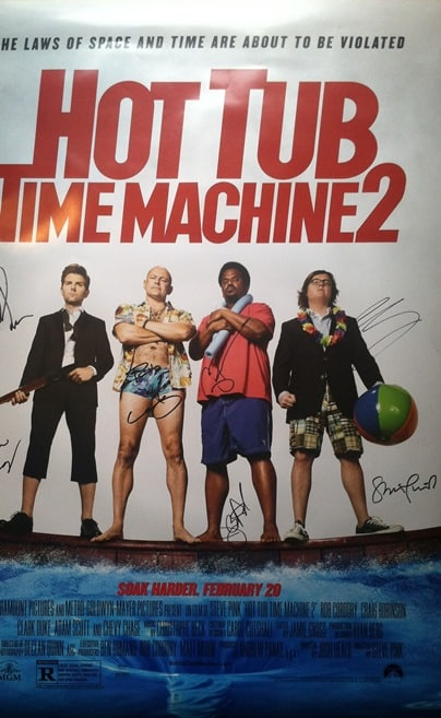 hot tub signed poster