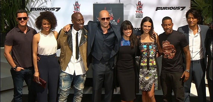 Vin Diesel Honored with Hand and Footprint Ceremony today