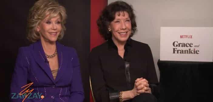 Jane Fonda and Lilly Tomlin - Grace & Frankie Interview - ZayZay.Com