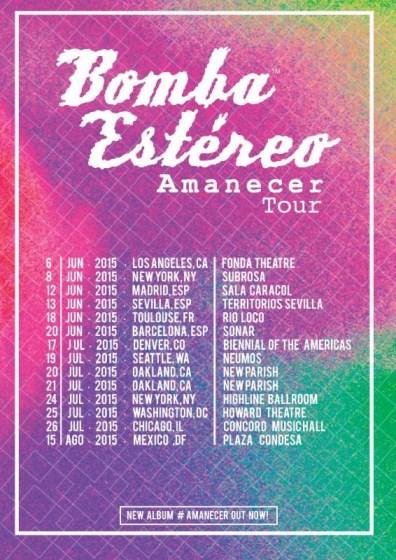 New Album Amanecer Tour Dates