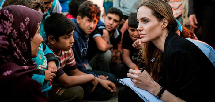 Actress Angelina Jolie Headed To Syria Refugees