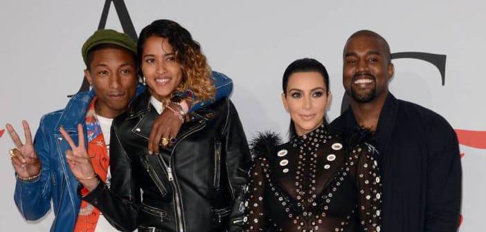 Pharrell Wilaims Saves Kim Kardashian After Her CFDA Dress Caught On Fire