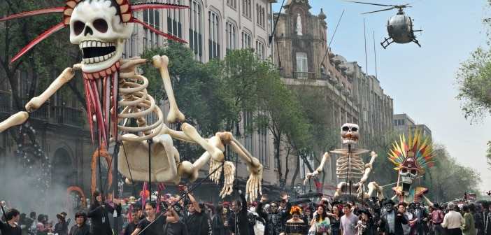 SPECTRE - 007 Visits Mexico City Day of The Dead Festival! 2