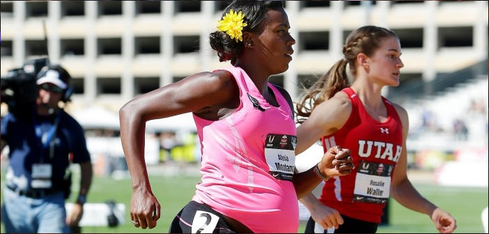 5 Time Track National Champion Alysia Montano Made Waves When She Ran While 8 Months Pregnant