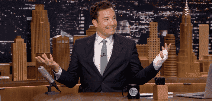 """Jimmy Fallon Reveals The Story About His Finger Injury """"Almost Lost My Finger"""""""