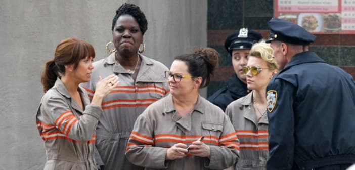 First Set Pics Are Showing Off Behind The Scenes Look 'Ghostbusters'