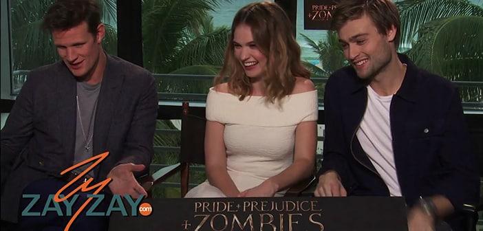 Pride & Prejudice & Zombies Interview - Lily James, Matt Smith & Douglas Booth - ZayZay.Com