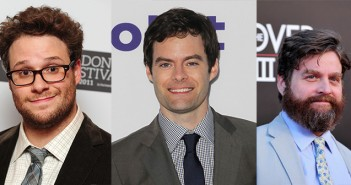 Zach Galifianakis, Seth Rogen and Bill Hader working on THE SOMETHNGS