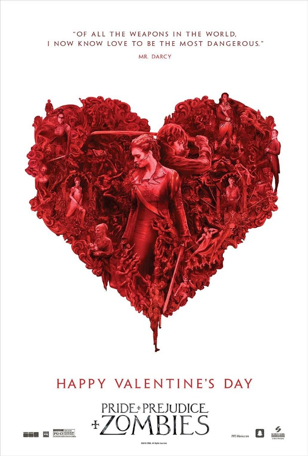 Pride And Prejudice And Zombies Wishes You A Happy Valentine S Day