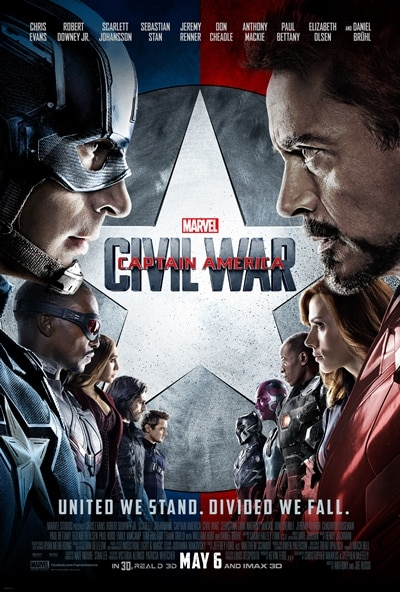 Marvel's CAPTAIN AMERICA CIVIL WAR  poster