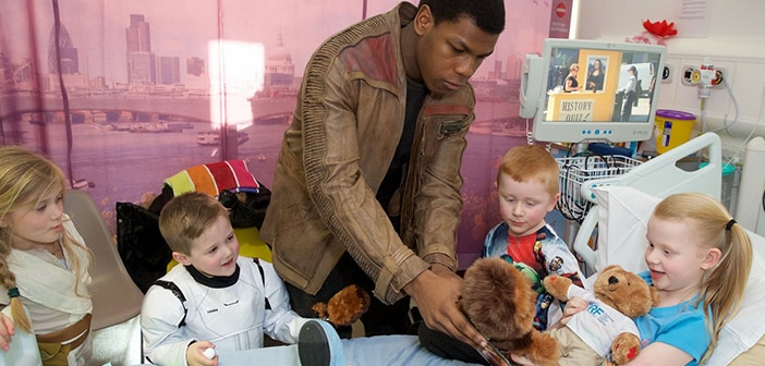 John Boyega Goes As Flynn To Visit Some Special Little Stormtroopers At London Hospital