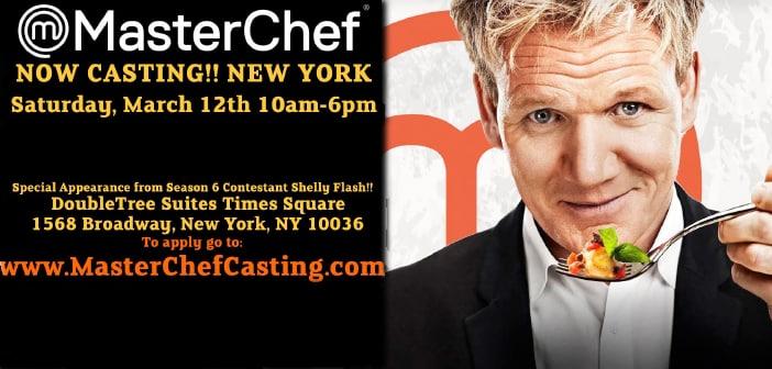 This Saturday, March 12 -- Masterchef Season Eight Open Casting Calls
