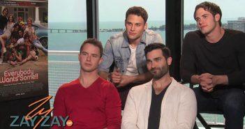 Alice Sarfati interviews Blake Jenner, Tyler Hoechlin, Ryan Guzman and Will Brittain