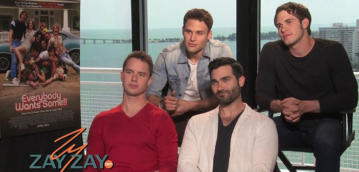 EVERYBODY WANTS SOME - Interview with Blake Jenner, Ryan Guzman, Will Britain, & Tyler Hoechlin - ZayZay.Com