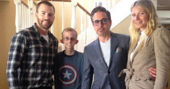 Avengers Visit Cancer Battling Fan Ryan Wilcox  - Wide