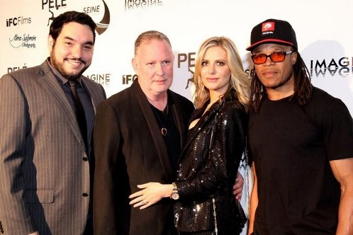 Ivan Orlic, Paul Kemsley, Dorit Kemsley and Edgar Davids (Copyright: Alma Salomon)