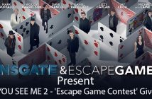 NOW YOU SEE ME 2 - 'Escape Game Contest' Giveaway