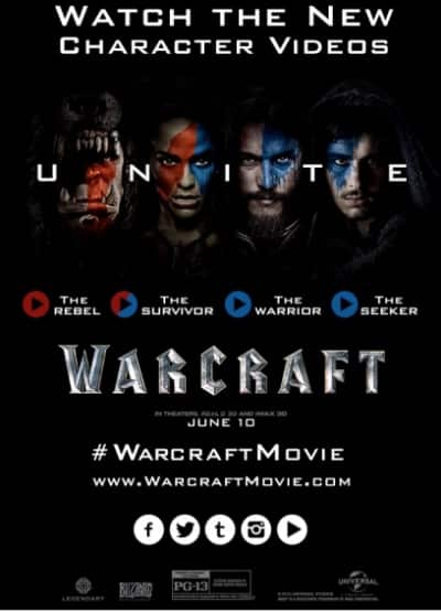 warcraft character promo