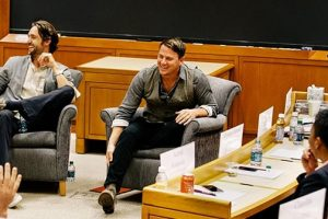 Channing Tatum, LL Cool J, Pau Gasol and Chris Paul Sharing Harvard Classroom