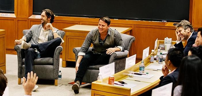 Channing Tatum, LL Cool J, Pau Gasol and Chris Paul Sharing Harvard Classroom